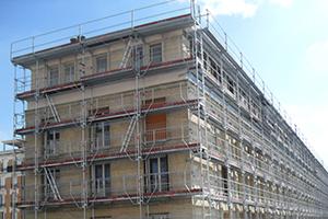 4800 M² d'échafaudages Layher à Cadre sur un chantier de Rénovation