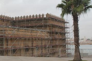 Layher rénove la muraille des Oudayas au Maroc