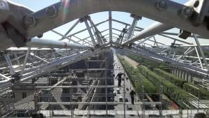 échafaudage sur toiture